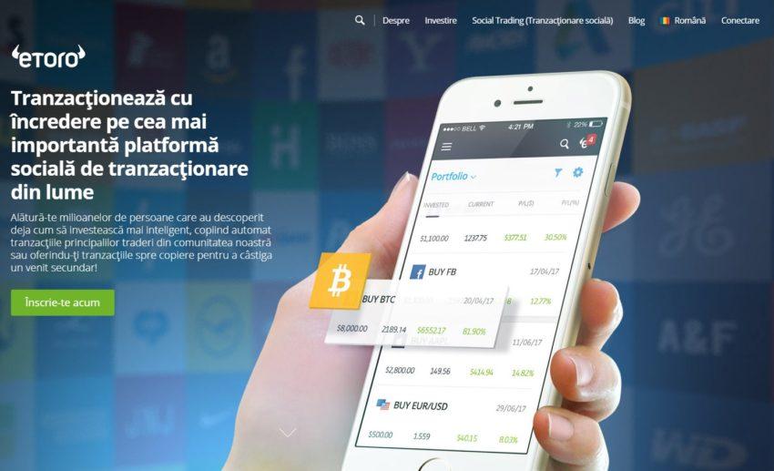 program de investiții pe internet